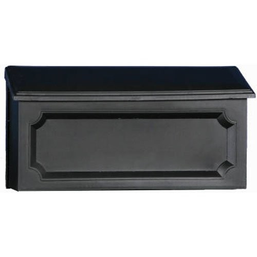 Gibraltar Mailboxes Windsor Medium Capacity Rust-Proof Plastic Black, Wall-Mount Mailbox, WMH00B04 [Black]