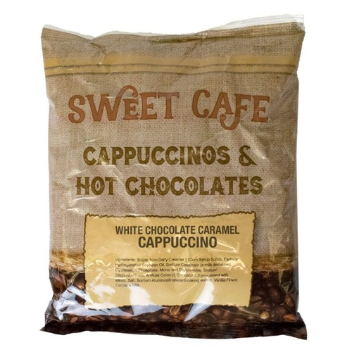 Sweet Caf Cappuccino, White Chocolate Caramel, 32 Oz, 2 Lb Per Bag, Case Of 6 Bags