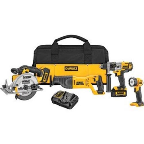 DEWALT DCK491L2 20-Volt MAX Li-Ion 3.0 Ah 4-Tool Combo Kit