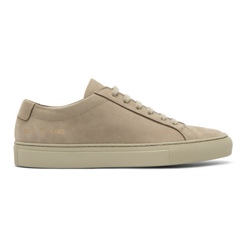 WOMAN BY COMMON PROJECTS Beige Nubuck Original Achilles Low Sneakers