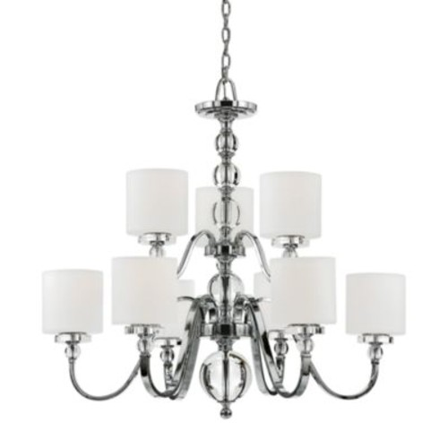 Quoizel 9-Lights Downtown Two Tier Chandelier
