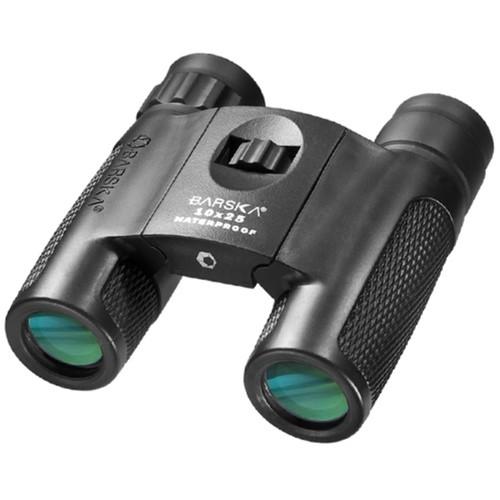 Barska 10x25 WP, Blackhawk Compact Green Lens Binoculars