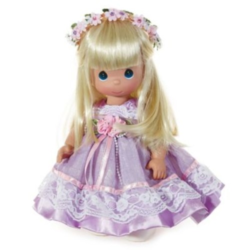Precious Moments Lovely in Lavender Doll with Blonde Hair