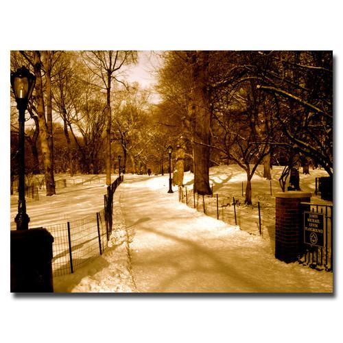 Trademark Global Ariane Moshayedi 'Winter Playground' Canvas Art [Overall Dimensions : 18x24]