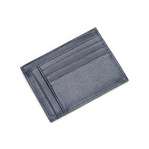 Royce Leather RFID Blocking Slim Card Case Wallet, Blue