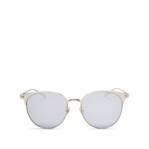 Mirrored Round Sunglasses, 57mm