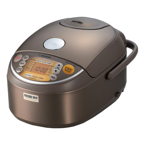 Zojirushi NP-HTC10 Induction Heating 5-1/2-Cup (Uncooked) Pressure Rice Cooker and Warmer