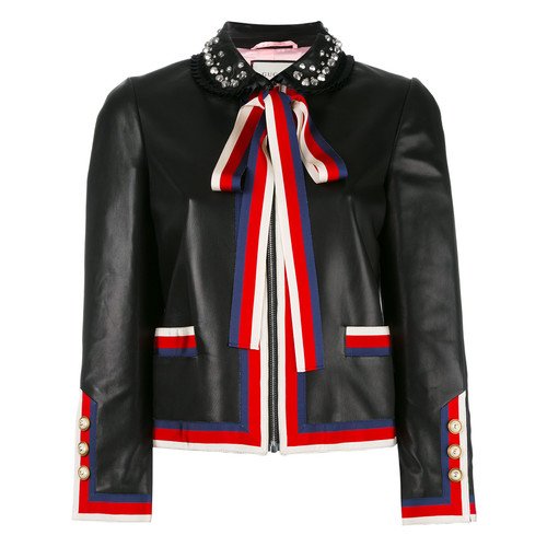 GUCCI Embellished Bow Tie Jacket