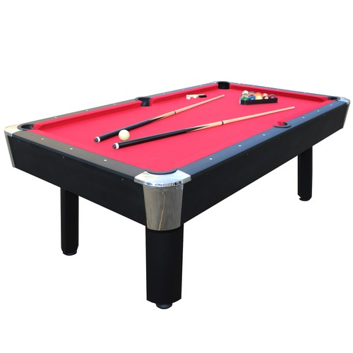 Sportcraft 7' Red Billiard Table w/ Table Tennis Top