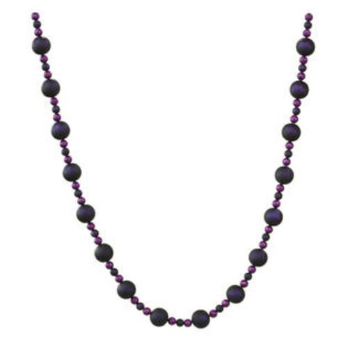 Vickerman 9' X 70-30Mm Purple Matte Ball Garland