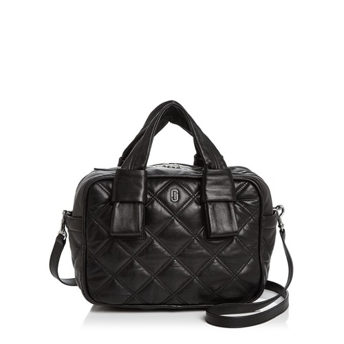 MARC JACOBS Antonia Bauletto Quilted Leather Satchel