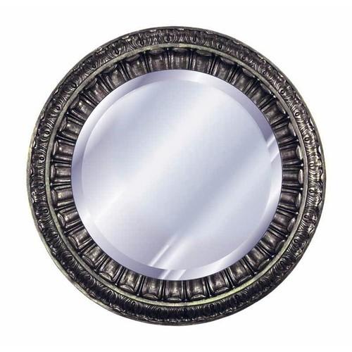 35 in. Dia. Ptolemy Mirror in Gilt Silver Finish