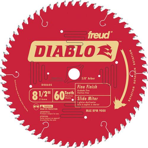 Diablo 8-1/2 in. x 60-Tooth Fine Finish Saw Blade