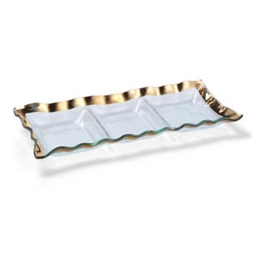 Ruffle 3-Section Tray
