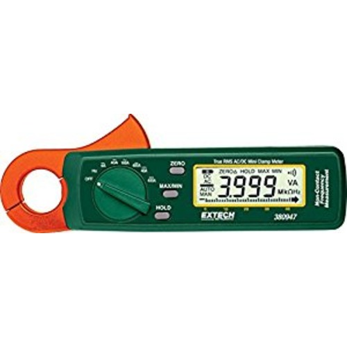 Extech 380947 True RMS 400A AC/DC Mini Clamp on Meter with High Current Resolution [400A]
