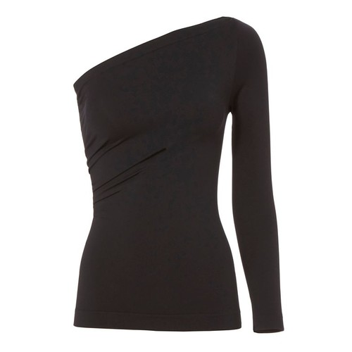 HELMUT LANG Black One Shoulder Top