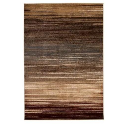 Lavish Home Opus Abstract Stripes Cream 5 ft. x 8 ft. Area Rug