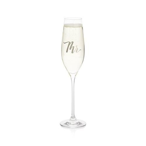 Mr. and Mrs. Champagne Flutes - Mrs.