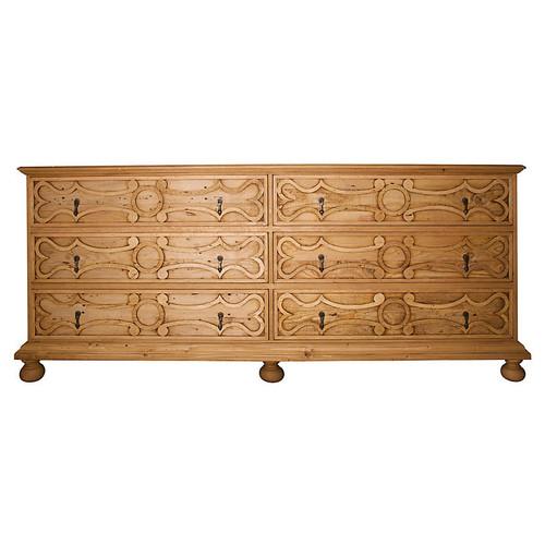 Oxford 6-Drawer Dresser, Medium Brown