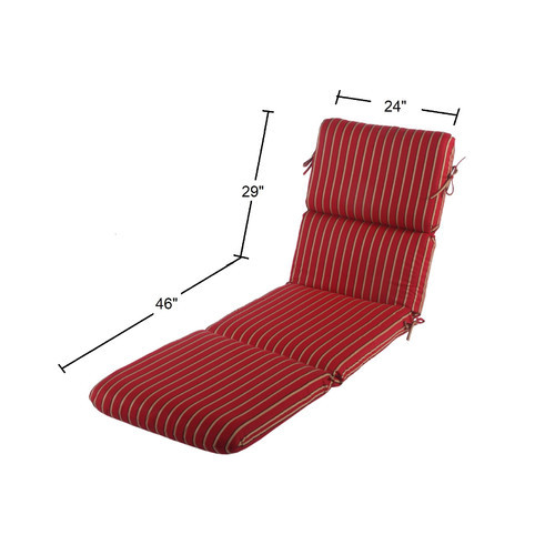 Phat Tommy Sunbrella Outdoor Chaise Lounge Cushion  Patio Furniture Replacement Cover-Clearance, Crimson [Crimson]