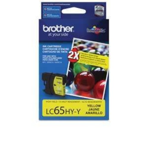Brother LC65HY-Y - High Yield - yellow - original - ink cartridge - for MFC-5890CN, MFC-5895CW, MFC-6490CW, (LC65HYY)