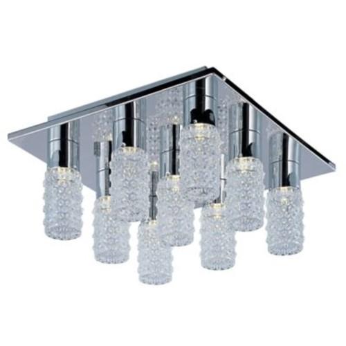 Orren Ellis Burger 9-Light LED Silver Flush Mount