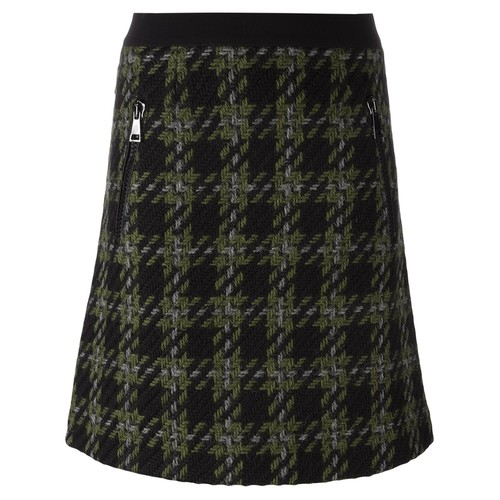 MONCLER Classic Checked A-Line Skirt