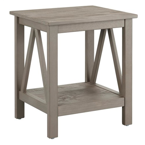Linon End Table in Gray