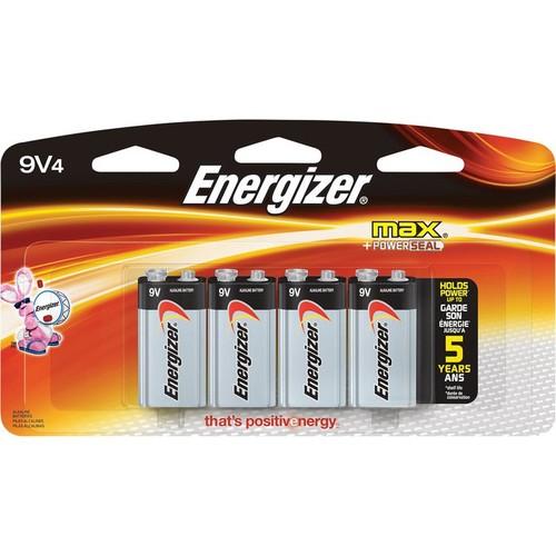 Energizer Alkaline 9 Volt Batteries  4-Pk.,