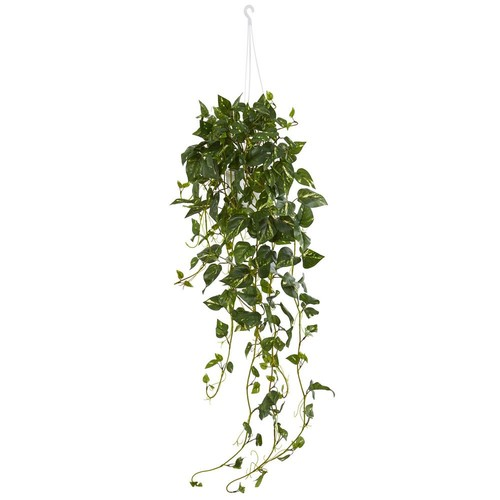 Nearly Natural Pothos Hanging Basket Artificial Plant