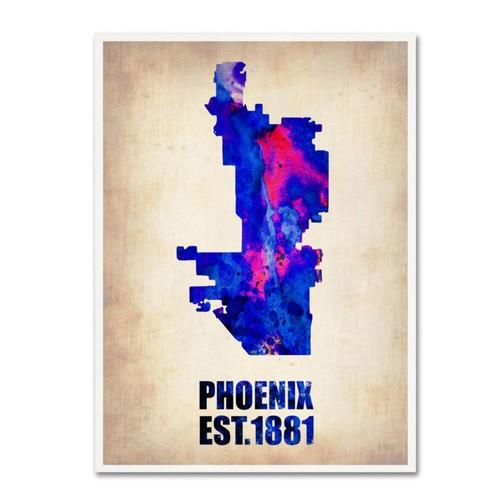 Trademark Fine Art 'Phoenix Watercolor Map' 24