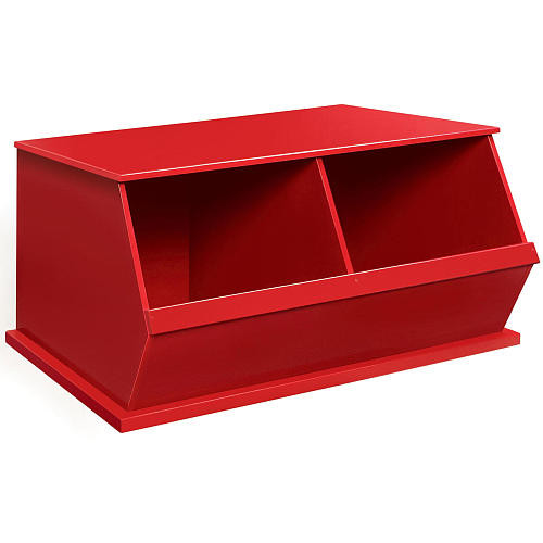 Badger Basket Two Bin Storage Cubby - Red