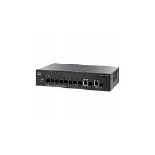 Cisco Small Business SG300-10SFP - Switch - L3 - managed - 8 x Gigabit SFP + 2 x combo Gigabit SFP - desktop, rack-mount