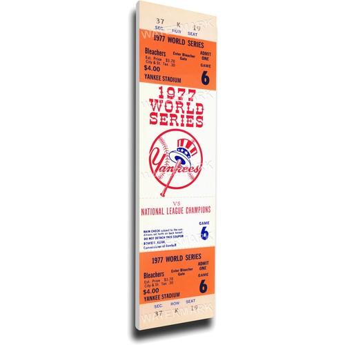 That's My Ticket New York Yankees 1977 World Series Canvas Mega Ticket