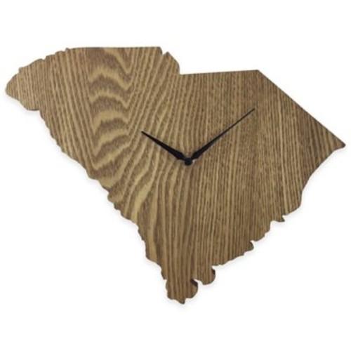 South Carolina State Wood Grain Wall Clock