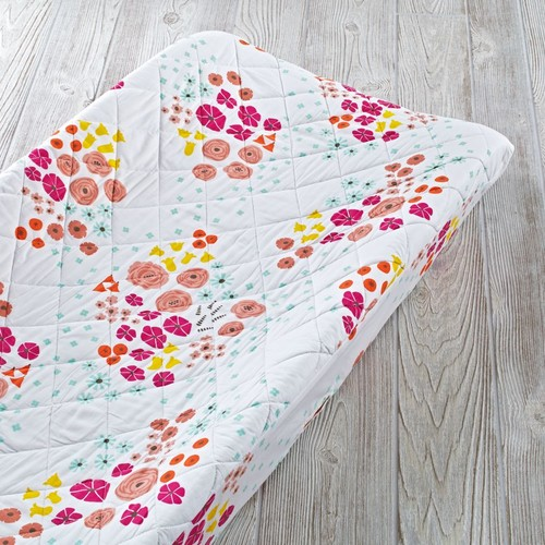 Flower Show Changing Pad Cover