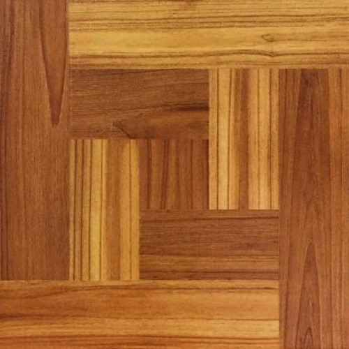 TrafficMASTER Brown Wood Parquet 12 in. x 12 in. Peel and Stick Vinyl Tile Flooring (30 sq. ft. / case)