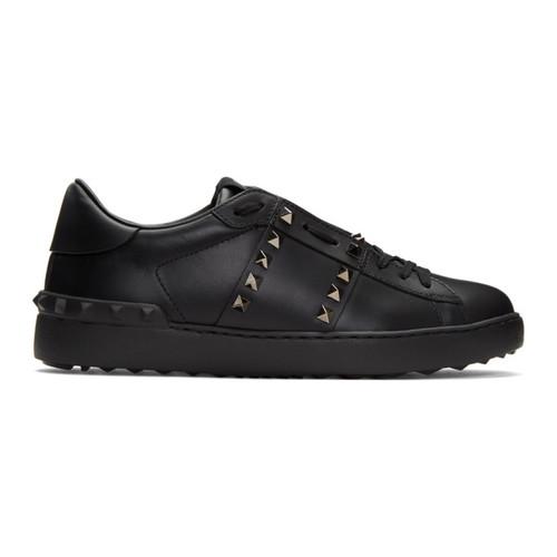 VALENTINO Black  Garavani 'Rockstud Untitled' 11 Sneakers
