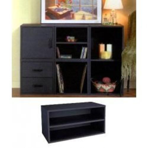 Foremost 329206 Modular Large Shelf Cube Storage System, Black [Black]