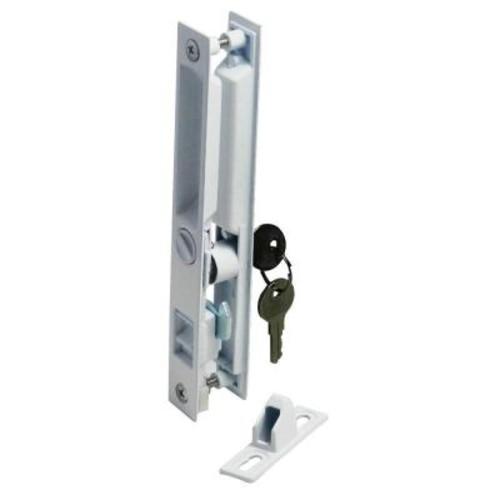 Barton Kramer 7.6 in. Patio Door White Lock with Key