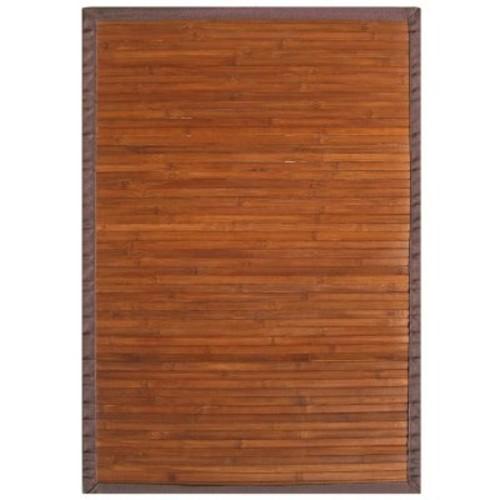 Bamboo Rug - Contemporary Chocolate - 5' x 8'