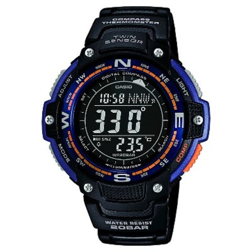 Casio Men's Twin Sensor Compass Watch - Black