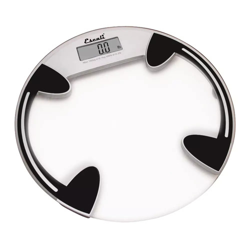 Escali Digital Glass Platform Bathroom Scale in Clear