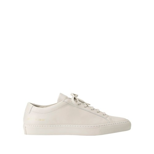 COMMON PROJECTS Achilles Low-Top Grey Leather Sneakers