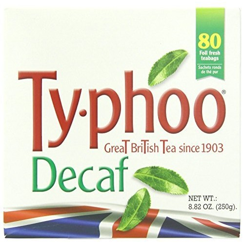 Typhoo British Tea, Decaf, Foil fresh teabags, 80 Count [80-Count Tea Bag]