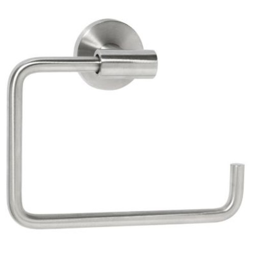 Amerock Arrondi Wall Mounted Towel Ring; Stainless Steel