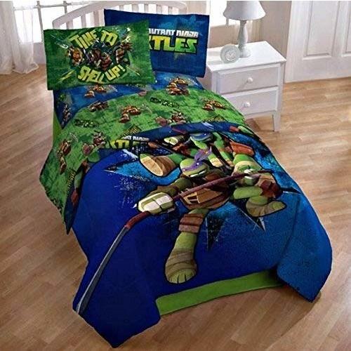 Teenage Mutant Ninja Turtles Twin Bedding Comforter and Sheet Set TMNT [Twin]