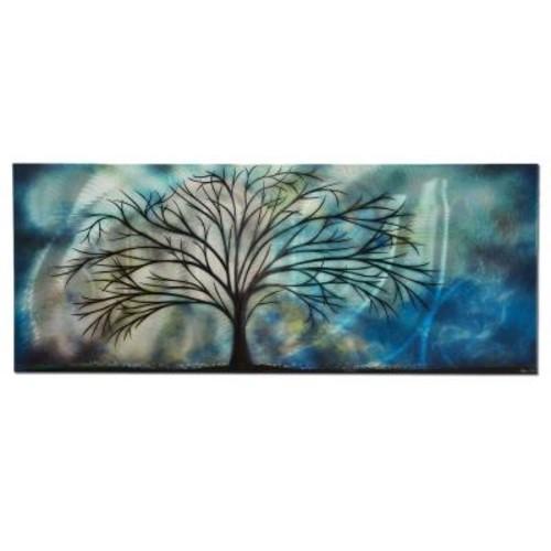 Filament Design Brevium 19 in. x 48 in. Moonlight Serenade Metal Wall Art