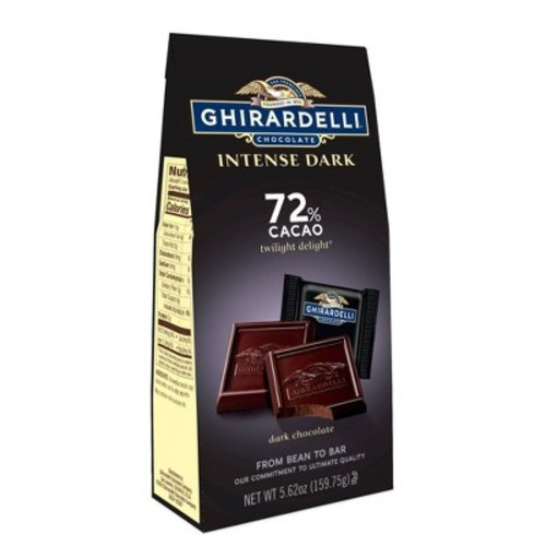 Ghirardelli Intense Dark Black/Brown Twilight Delight 72% Cacao Squares - 4.87oz