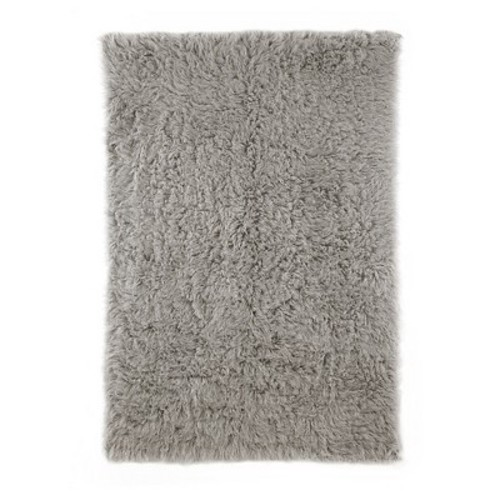 nuLOOM Genuine Greek Flokati Natural Grey 3 ft. x 5 ft. Area Rug